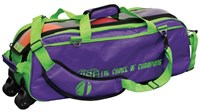Vise 3 Ball Clear Top Roller/Tote Grape/Green Bowling Bags