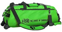 Vise 3 Ball Clear Top Roller/Tote Green Bowling Bags