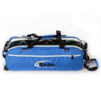 Turbo Express 3 Ball Travel Tote Electric Blue Bowling Bags