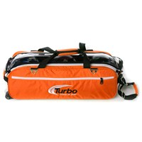 Turbo Express 3 Ball Travel Tote Orange Bowling Bags