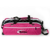 Turbo Express 3 Ball Travel Tote Pink Bowling Bags
