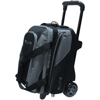 Elite Deluxe Double Roller Black Grey Bowling Bag Bowling Bags