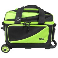 BSI Prestige Double Ball Roller Black/Lime Bowling Bags