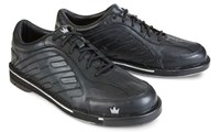 Brunswick Mens Team Brunswick Black Right Hand-ALMOST NEW Bowling Shoes