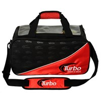 Turbo 2 Ball Tour Tote Black/Red Clear Top Bowling Bags