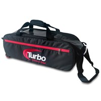 Turbo Express 3 Ball Travel Tote Black/Red Bowling Bags