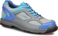 Dexter Womens THE 9 HT Grey/Periwinkle/Aqua Wide Width Bowling Shoes