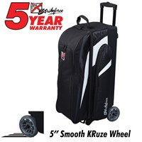 KR Strikeforce Cruiser Smooth Triple Roller Black/White Bowling Bags