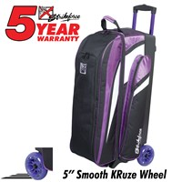 KR Strikeforce Cruiser Smooth Triple Roller Purple Bowling Bags