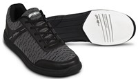 KR Strikeforce Mens Flyer Mesh Black/Steel Bowling Shoes