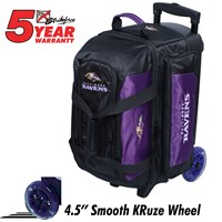 KR Strikeforce NFL Double Roller Baltimore Ravens Bowling Bags