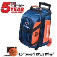 KR Strikeforce NFL Double Roller Chicago Bears Bowling Bags