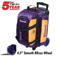 KR Strikeforce NFL Double Roller Minnesota Vikings Bowling Bags