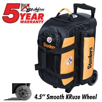 KR Strikeforce NFL Double Roller Pittsburgh Steelers Bowling Bags
