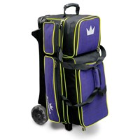 Brunswick Crown Deluxe Triple Roller Purple/Yellow Bowling Bags