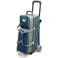 Brunswick Crown Deluxe Triple Roller Navy/Lime Bowling Bags