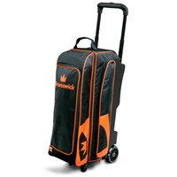 Brunswick Blitz Triple Roller Black/Orange Bowling Bags