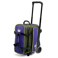 Brunswick Crown Deluxe Double Roller Purple/Yellow Bowling Bags