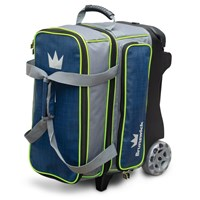 Brunswick Crown Deluxe Double Roller Navy/Lime Bowling Bags