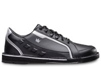 Brunswick Mens Punisher Right Hand Black/Silver Bowling Shoes