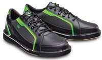Brunswick Mens Punisher Right Hand Wide Width Black/Neon Green Bowling Shoes
