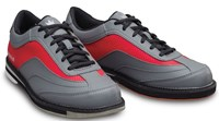 Brunswick Mens Rampage Grey/Red Left Hand Bowling Shoes