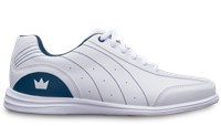 Brunswick Womens Mystic White/Navy Wide Width Bowling Shoes