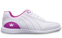 Brunswick Youth Mystic White/Fuchsia Bowling Shoes