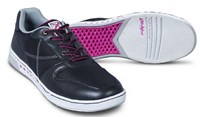 KR Strikeforce Womens Opal Black/Hot Pink Bowling Shoes
