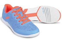 KR Strikeforce Womens Lace Sky/Coral Bowling Shoes