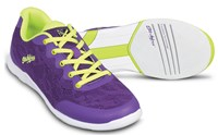 KR Strikeforce Womens Lace Purple/Yellow Bowling Shoes