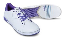 KR Strikeforce Womens Gem White/Purple Bowling Shoes