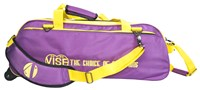 Vise 3 Ball Clear Top Roller/Tote Purple/Yellow Bowling Bags