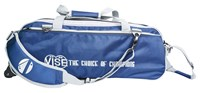 Vise 3 Ball Clear Top Roller/Tote Navy/Silver Bowling Bags