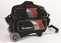 900Global 2 Ball Deluxe Roller Black/Red/Silver Bowling Bags