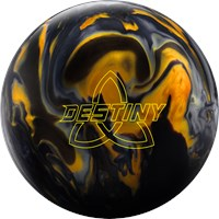 Ebonite Destiny Hybrid Black/Gold/Silver Bowling Balls