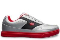 96e7c93f0e0a Brunswick Mens Renegade Flash Silver Red Bowling Shoes