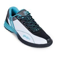 Grey//Periwinkle//Aqua Dexter Womens SST The 9 Bowling Shoes Wide