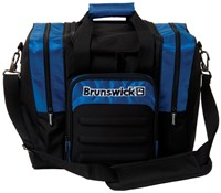 Brunswick Flash Single Tote Black/Royal Bowling Bags