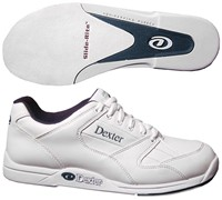 Dexter Mens Ricky II White Wide Width Bowling Shoes
