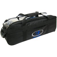 Elite Express Triple Tote/Roller Black Bowling Bags