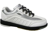 Elite Womens Platinum Right Hand White/Silver Bowling Shoes