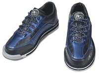 3G Mens Sport Deluxe Black/Blue Right Hand Bowling Shoes