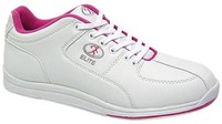 Elite Womens Ariel White/Pink Bowling Shoes
