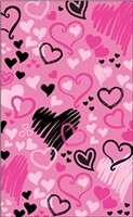 Brunswick Pink Hearts All Over Towel