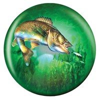 Brunswick Game Fishing Glow Viz-a-Ball Bowling Balls