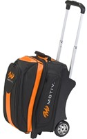 Motiv Deluxe Double Roller Black/Orange Bowling Bags