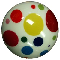 Exclusive White Polka Dot Viz-A-Ball Bowling Balls