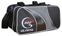 900Global 2 Ball Tote Grey/Black Bowling Bags