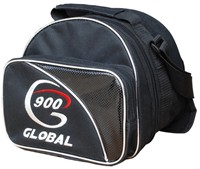 900Global Add-a-Bag Black/Grey Single Tote Bowling Bags